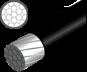 Brzdové lanko JAGWIRE TEC-ST MTB, 1,7m