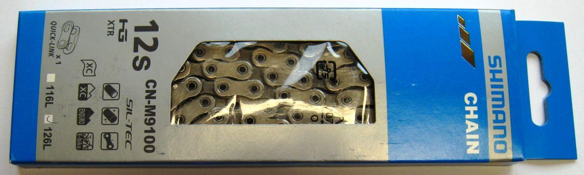 Řetěz SHIMANO CN-M9100 126 rychlospojka
